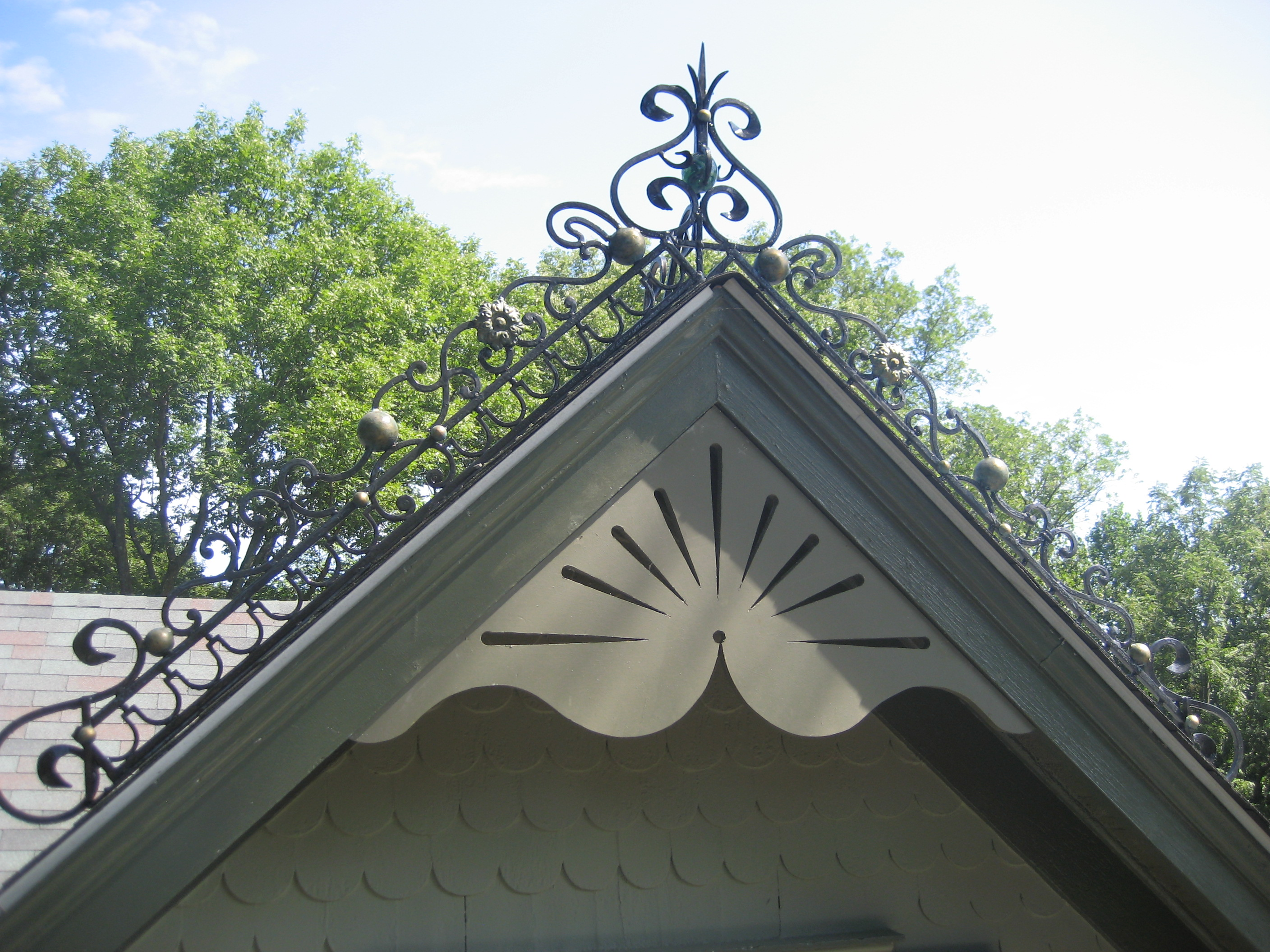 Tringali iron works services for Victorian gable decorations